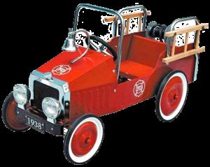 Grotte forestière voiture à pédales pompier 1938